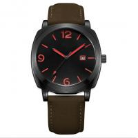 Quality 3ATM Style Quartz Stainless Steel Watch Japan Movement Genuine Leather Band wholesale