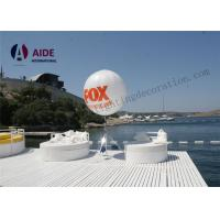 Cheap Free Logo Print Vertical Inflatable Advertising Balloons Tripod Ball For Fair Show for sale