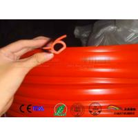 Cheap Omega shape oxide red color silicone rubber profile gasket for sale
