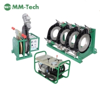 China 220v hydraulic plastic green pipe hdpe butt fusion welding machine for 200-450mm on sale