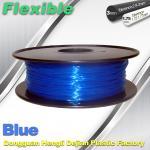 Quality High Soft TPU Rubber 3D Printer Filament 1.75mm / 3.0Mm In Blue wholesale