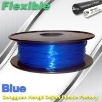 Cheap High Soft TPU Rubber 3D Printer Filament 1.75mm / 3.0Mm In Blue for sale