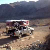 Quality Double Big Foot Automatic Roof Tent , Jeep Hard Top Tent Streamlined Design wholesale