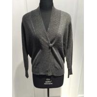 China Perfect Handfeel Black Cashmere Wrap Sweater With Computer Plain Knitting Crafts on sale