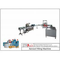 China Rotary Automatic Aerosol Gas Filling Machine Capacity 3600CPH For Butane Gas on sale