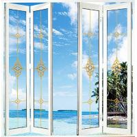 Quality White Foldable Sliding Doors / Clear Interior Bifold Doors With Glass wholesale