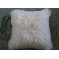 Quality Single Sided Sheep Fur Dining Room Chair Cushions Moisture Proof With Long Hair wholesale