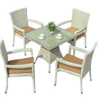 Quality Weatherproof PE Wicker Washable Seat Cover Outdoor Table Chairs wholesale