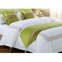 Quality Green Color Duvet Cover Quilt Hotel Style Bed Runners Custom wholesale