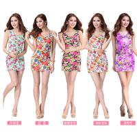 product europe style sleeveless floral butterfly printed dresses