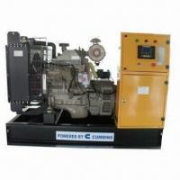 China Diesel Generator Set, Water-cooled with Cummins Engine, 110kW/138kVA Rated Power, 50/60Hz Frequency on sale