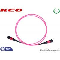China MPO Breakout Cable Fan Out Kits Fiber Optics LC FC SC Type LSZH pink Cover on sale