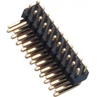 Quality 1.27 Mm Pin Header Right Angle high temperature plastic DIP H=1.5  PA9T black UL94V-0 wholesale