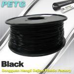 Quality 1.75mm / 3.0 mm Temperature Resistance  PETG Black Filament  1.0KG / Roll wholesale