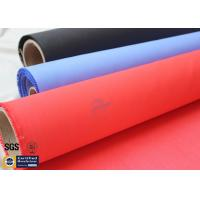 Quality Acrylic Coated Fiberglass Fire Blanket 490GSM 0.43mm Red Fire Safety Protection wholesale