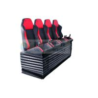 Quality Dynamic Cinema Seat / Movie Theater Chairs With Push Back , Electrical Vibration wholesale
