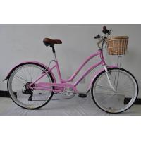 Quality CE standard hi-ten steel  26 inch elegant city bike for lady  with Shimano 6 speed wholesale