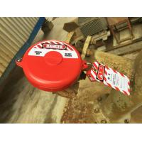 Red Polypropylene Custom Color Safety Gate Valve Lock Out Tag Out