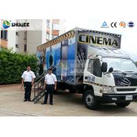 Quality Mobile Truck Model 7D Movie Theater Of Luxury Leather Motion Chairs , Remove Anywhere wholesale