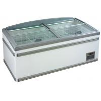 Quality 630L Four Sliding Glass Door Island Freezer , Commercial Deep Freezer For Supermarket wholesale
