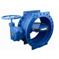 Quality 125 lbs / 200psi Double Eccentric / flange Butterfly Valve with HandWheel wholesale
