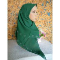Quality Beaded Muslim Square Scarf wholesale