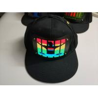 Quality sound-Activated party LED hat Light up music flashing el cap  Wireless voice controller  Hip Hop el hat  With Inverter wholesale