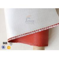 Buy cheap 0.45mm 470gsm Fire Resistant Red Silicone Coated Fiberglass Fabric product