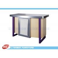 Store / Shop Cash Counter MDF Display SGS ISO , Laminated Melamine Finished