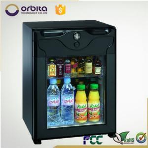 China AC220V 40L beverage fridge, counter top glass door cooler on sale