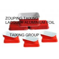Quality red epoxy lacquer aluminium foil for airline trays wholesale