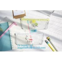 Quality Supplier stationary silicone pen pouch/silicone rubber pen pencil bag, Customized Logo Rubber Zip Lock PVC Pencil Bag wholesale