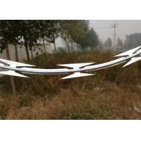 Quality Military Galvanized Low Price Concertina Single Loop Razor Barbed Wire wholesale