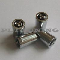 China chrome valve stem caps with car logo on sale