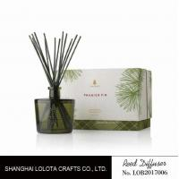 Quality Blackish green color bottle with natural stick and rigid gift box wholesale