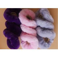 Quality Shearling Short Wool Pink Fluffy Steering Wheel Cover Set With Genuine Leather wholesale