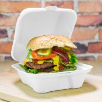 "Buy cheap 6"" biodegradable disposable sugarcane bagasse burger food box product"