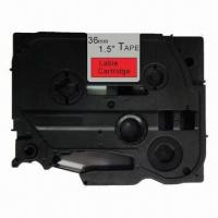 China Compatible Label Tape Cartridge for Brother P-touch Label Printers, Black on Red Color on sale