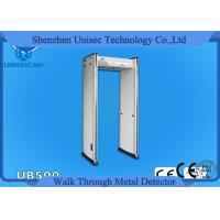 Cheap UB500 6 Zone Led Display Arch Door Metal Detector Body Scanner For Winter for sale