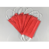 Quality Anti Spray 3 Ply Red OEM Disposable Earloop Mask wholesale