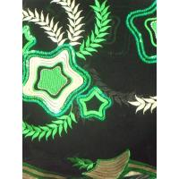 Quality Multicoloured Embroidered Nigerian Lace Fabrics Flower For Shoes wholesale