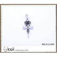 Quality Hot sell 316 Stainless Steel Cross & Death's-Head Pendant H-L1343 wholesale