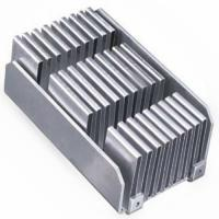 China Custom aluminum folded fin soldering heat sink base with nickel plating on sale