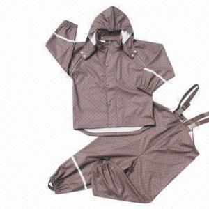 Quality Kid's PU Rainwear, Oeko-Tex Standards, Waterproof 3,000mm wholesale