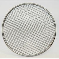 China Rimmed 316 Stainless Steel Wire Mesh Filter Disc Silver Color 2-635 Mesh Count on sale