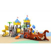 China Funny School Childrens Plastic Playground Customized Size Outdoor Play Slide on sale