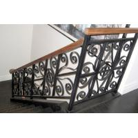Quality Black Grey Cast Iron Handrails Anti Corrosion For Highway Railway Fence wholesale