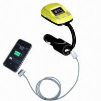 Quality Car MP3 player, connects with USB cable charging for mobile phone wholesale