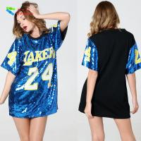Quality Number 24 Ladies Sequin Dress / Blue Adults Sequin Hip Hop Dance Costumes wholesale