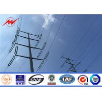 China Q235 Electric Pole Steel Electric Power Poles with Cross Arm For Power Accessories on sale
